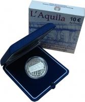 Изображение Подарочные монеты Италия 10 евро 2009 Серебро Proof `Монета номиналом 10