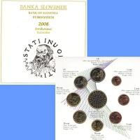 Изображение Подарочные монеты Словения Евронабор монет Словении 2008 2008  UNC Представляем Вам наб
