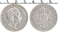 Изображение Монеты Пруссия 3 марки 1912 Серебро XF А Вильгельм II