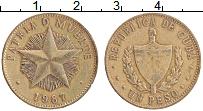 Изображение Монеты Куба 1 песо 1987 Латунь XF