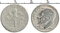 Изображение Монеты США 1 дайм 1966 Медно-никель VF Теодор Рузвельт