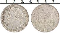 Изображение Монеты Франция 5 франков 1869 Серебро XF