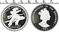 Продать Монеты Багамские острова 5 долларов 1993 Серебро