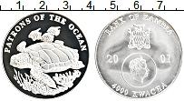 Изображение Монеты Замбия 4000 квач 2001 Серебро Proof-
