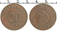 Изображение Монеты Мексика 20 сентаво 1915 Медь XF-