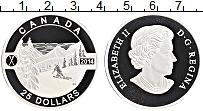 Изображение Монеты Канада 25 долларов 2014 Серебро Proof Елизавета II.Лыжник
