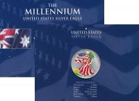 Изображение Подарочные монеты США 1 доллар 2000 Серебро UNC