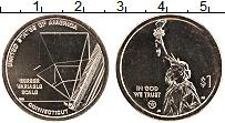 Изображение Мелочь США 1 доллар 2020 Латунь UNC Инновации (D). Шкала