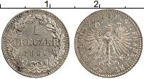 Изображение Монеты Франкфурт 1 крейцер 1866 Серебро UNC-