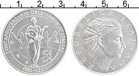 Изображение Монеты Италия 5 евро 2011 Серебро UNC 150 лет объединения