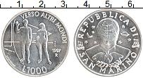 Изображение Монеты Сан-Марино 1000 лир 1997 Серебро UNC-