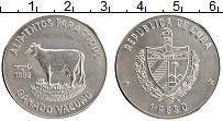 Изображение Монеты Куба 1 песо 1982 Медно-никель UNC- Корова