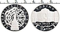 Изображение Монеты Италия 10 евро 2011 Серебро Proof Дворец в Турине