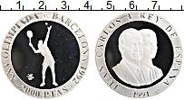 Изображение Монеты Испания 2000 песет 1991 Серебро Proof Олимпиада в Барселон