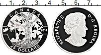 Изображение Монеты Канада 25 долларов 2014 Серебро Proof Елизавета II.Качели