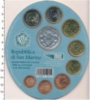 Изображение Подарочные монеты Сан-Марино Набор евромонет 2007 2007  UNC Подарочный набор евр