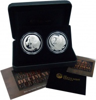 Изображение Подарочные монеты Австралия 50 лет Перехода на десятичную систему 2016 Серебро UNC