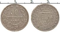 Изображение Монеты Сан-Марино 50 сентесим 1898 Серебро XF