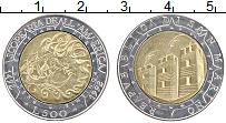 Изображение Монеты Сан-Марино 500 лир 1992 Биметалл UNC- 500 лет открытия Аме