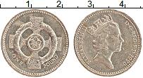 Изображение Монеты Великобритания 1 фунт 1996 Латунь XF