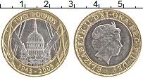 Изображение Монеты Великобритания 2 фунта 2005 Биметалл UNC-