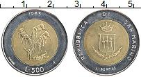 Изображение Монеты Сан-Марино 500 лир 1983 Биметалл UNC- Ядерная война