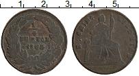 Изображение Монеты Мексика 1/4 реала 1866 Медь VF