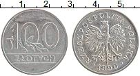 Изображение Монеты Польша 100 злотых 1990 Медно-никель XF