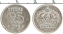 Изображение Монеты Швеция 25 эре 1959 Серебро XF Густав VI Адольф