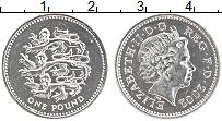 Изображение Монеты Великобритания 1 фунт 2002 Серебро Proof-