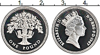 Изображение Монеты Великобритания 1 фунт 1987 Серебро Proof-
