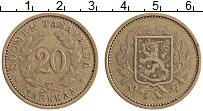 Изображение Монеты Финляндия 20 марок 1934 Латунь XF