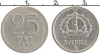 Изображение Монеты Швеция 25 эре 1944 Серебро XF Густав V