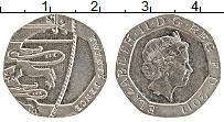 Изображение Монеты Великобритания 20 пенсов 2011 Медно-никель UNC-