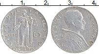 Изображение Монеты Ватикан 5 лир 1953 Алюминий XF Пий XII