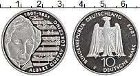 Изображение Монеты ФРГ 10 марок 2001 Серебро Proof J. Альберт Густав Ло