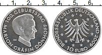 Изображение Монеты Германия 10 евро 2009 Серебро UNC J. 100 лет со дня ро