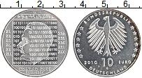 Изображение Монеты Германия 10 евро 2010 Серебро UNC- G. 100 лет со дня ро