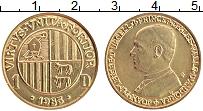Изображение Монеты Андорра 1 динер 1983 Латунь UNC