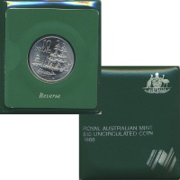 Изображение Подарочные монеты Австралия 10 долларов 1988 Серебро UNC 200 лет основания пе