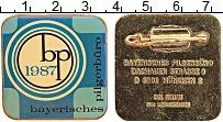 Изображение Значки, ордена, медали Германия Знак 1987 Латунь UNC- Туристическое агенст