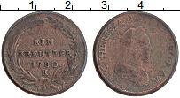 Изображение Монеты Австрия 1 крейцер 1780 Медь VF Мария Терезия. К