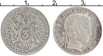 Изображение Монеты Ломбардия 3 крейцера 1846 Серебро XF Фердинанд I. А