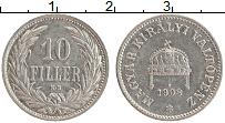 Изображение Монеты Венгрия 10 филлеров 1908 Медно-никель XF