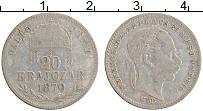 Изображение Монеты Венгрия 20 крейцеров 1870 Серебро XF