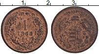 Изображение Монеты Венгрия 1 крейцер 1868 Медь XF Герб
