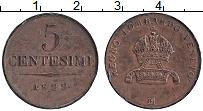 Изображение Монеты Ломбардия 5 чентезимо 1822 Медь XF