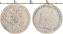 Изображение Монеты Австрия 3 крейцера 1820 Серебро VF Франциск I. А