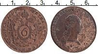 Изображение Монеты Австрия 6 крейцеров 1800 Медь XF Франц II