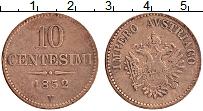 Изображение Монеты Ломбардия 10 чентезимо 1852 Медь XF
